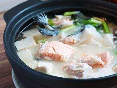 野草居食屋_菜單_鮭魚頭味噌湯