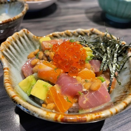 野草居食屋-菜單-小花園散壽司