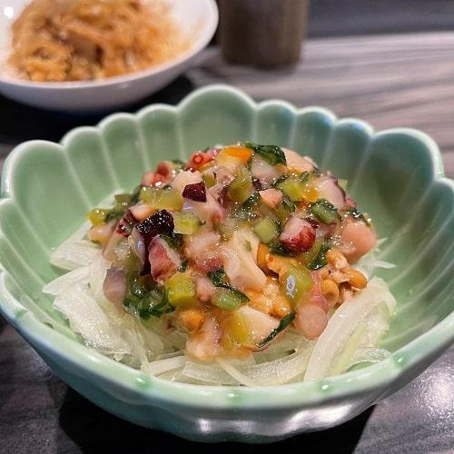 野草居食屋-菜單-雜拌山葵章魚